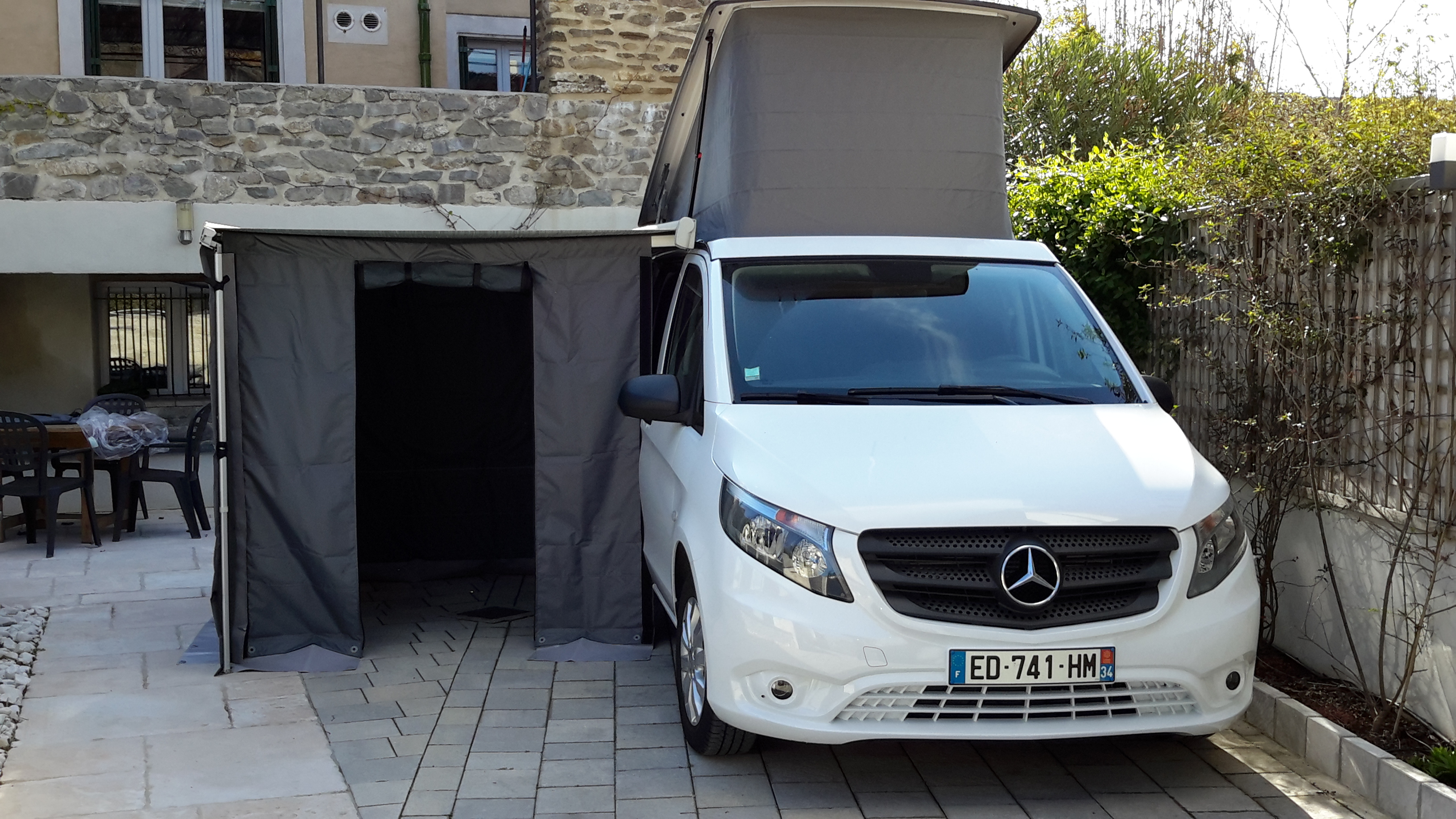 mercedes marco polo camping room for factory roll out awning viano ebay. Black Bedroom Furniture Sets. Home Design Ideas